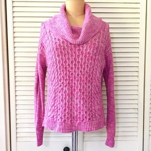 American Eagle Womens Sweater Pink Cowl Neck